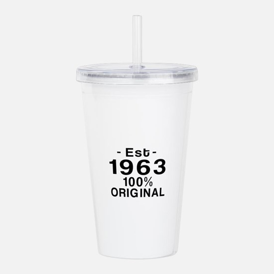Est.Since 1963 Acrylic Double-wall Tumbler