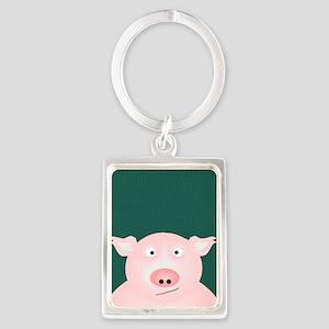 Pig in a Poke Portrait Keychain