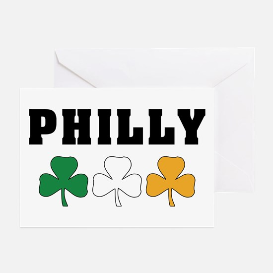 Philly Irish Shamrocks Greeting Cards (Pk of 10)