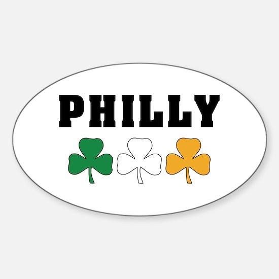 Philly Irish Shamrocks Oval Decal