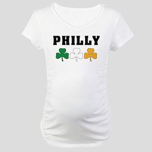 Philly Irish Shamrocks Maternity T-Shirt