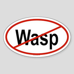 WASP Oval Sticker