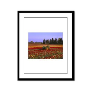 Field of Flowers Framed Panel Print
