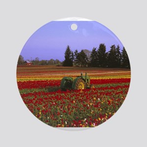 Field of Flowers Ornament (Round)