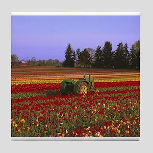Field of Flowers Tile Coaster