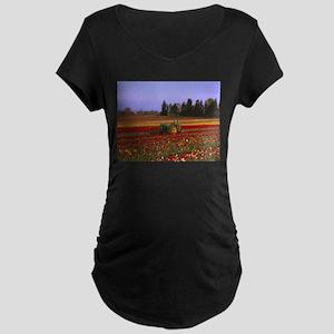 Field of Flowers Maternity Dark T-Shirt