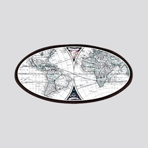 Antique World Map Patch