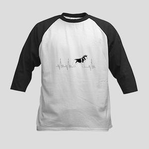 Cool Heartbeat Dog T Shirt Baseball Jersey