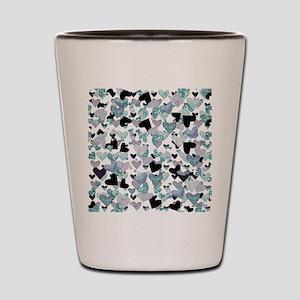 Sparkle Hearts Aqua Shot Glass