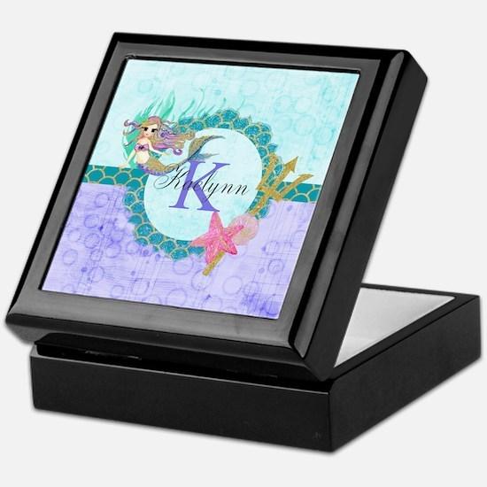Personalized Monogram Mermaid Keepsake Box