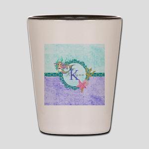 Personalized Monogram Mermaid Shot Glass