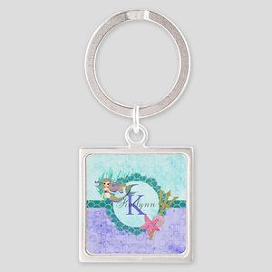 Personalized Monogram Mermaid Keychains