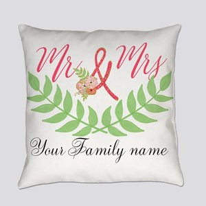 Personalized Wedding Everyday Pillow