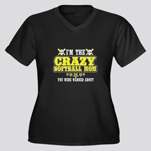 Crazy Softball Mom T Shirt Plus Size T-Shirt