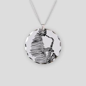 Jazz Necklace Circle Charm