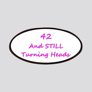 42 Still Turning Heads 1C Pink Patch