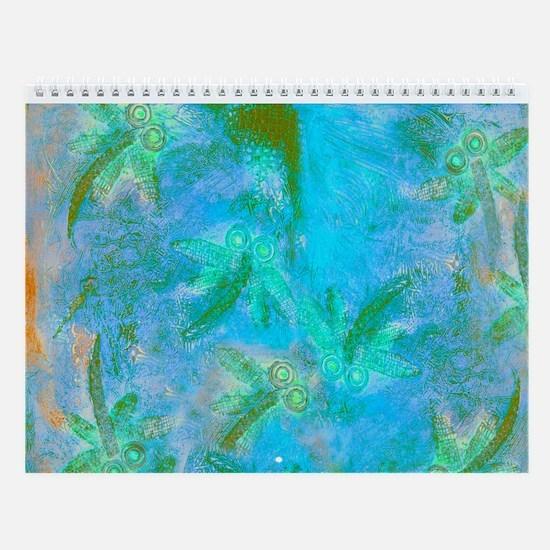 Opal Dragonfly Flight Wall Calendar