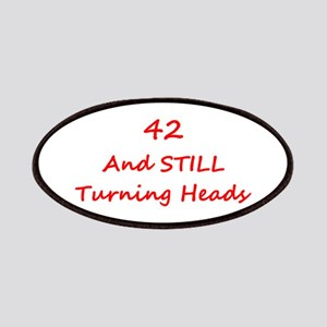 42 Still Turning Heads 1C Red Patch