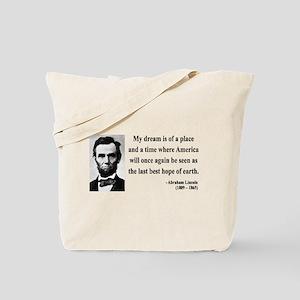 Abraham Lincoln 5 Tote Bag
