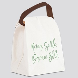 Never Settle Canvas Lunch Bag