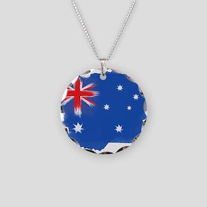 Australia Flag Sydney Necklace Circle Charm