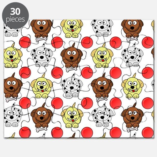 Funny Puppies. Puzzle