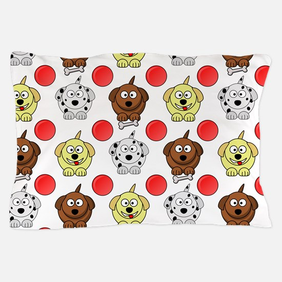 Cute Brown lab Pillow Case