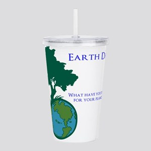 Earth Day Acrylic Double-wall Tumbler