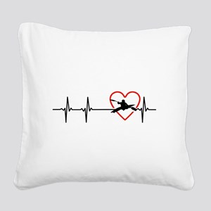 i love kayak Square Canvas Pillow
