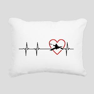 i love kayak Rectangular Canvas Pillow