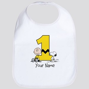 Peanuts Personalized 1st Birthday Baby Bib