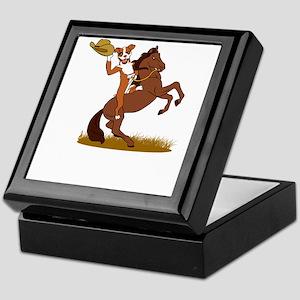 dog ranch Keepsake Box