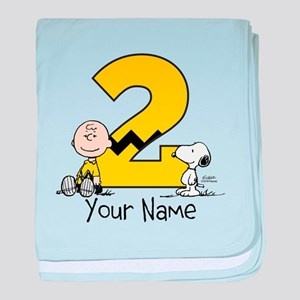 peanuts personalized cotton baby blankets cafepress