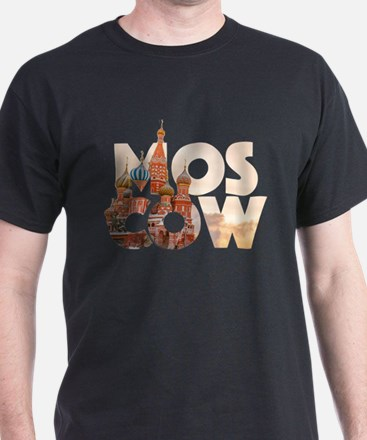 Russia Moscow Typography T-Shirt