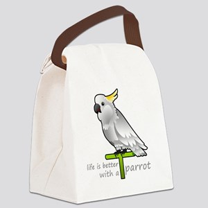 life is better with a parrot Canvas Lunch Bag