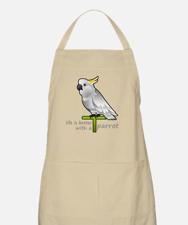 life is better with a parrot Apron