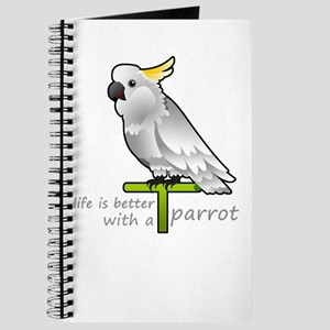 life is better with a parrot Journal