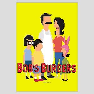 Bob's Burgers 8bit Wall Art