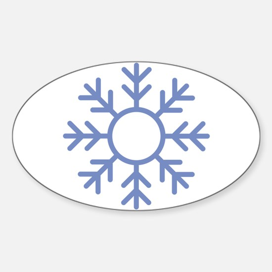 Blue Snowflake Ornament Decal