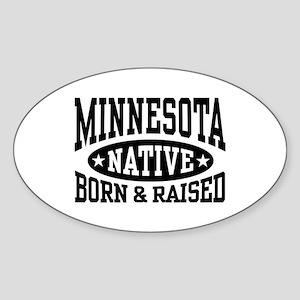 Minnesota Native Sticker (Oval)