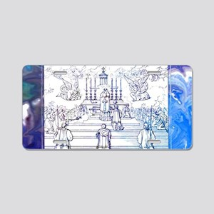Holy Sacrifice Aluminum License Plate