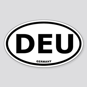 Germany Oval Sticker