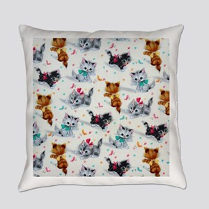 Cute Playful Kittens Everyday Pillow
