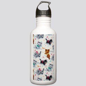 Cute Playful Kittens Stainless Water Bottle 1.0L