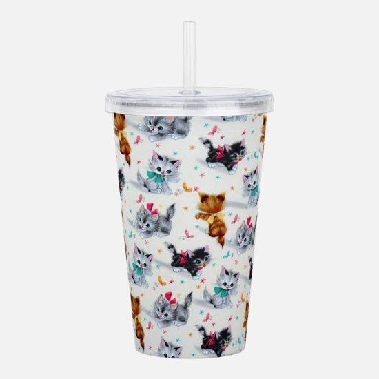 Cute Playful Kittens Acrylic Double-wall Tumbler