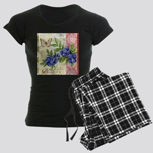 FRENCH MODERN BUTTERFLY AND BLUEBERRY Pajamas