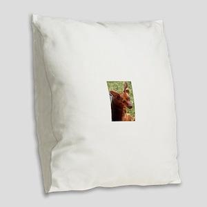miniature pinscher Burlap Throw Pillow