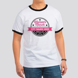 Womens March Personalized Ringer T