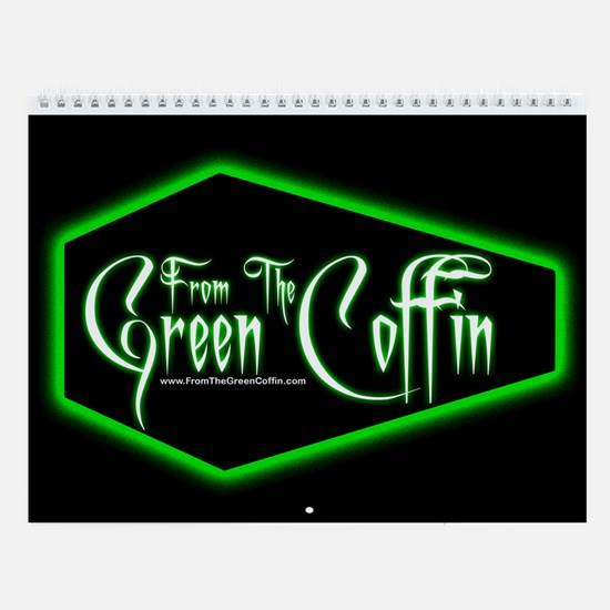 Green Coffin Wall Calendar
