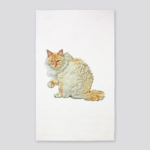 Flame point siamese cat Area Rug